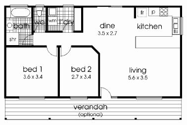 16 X 40 2 Bedroom House Plans Elegant 31 Simple Open Floor