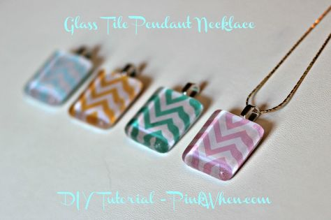 Glass tile pendants are so easy and fun to make, and while there are a lot of different tutorials out there, I figured I would make just one more. I get a lot of my inspiration and ideas from Pinte...