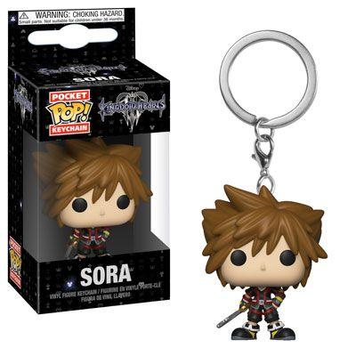 Game Kingdom Hearts Sora PVC Keychain Key Ring