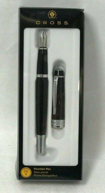 Jinhao No 992 Transparent Coffee Brown Fine Fountain Pen with Chrome Trim