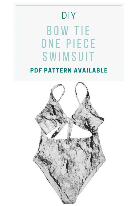 swim suit diy Learn how to sew a bow tie one piece swimsuit