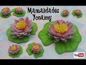 Rosas De Foamy O Goma Eva Sin Molde Solo Con Termoformado Youtube Foam Flowers Foam Crafts Flower Crafts