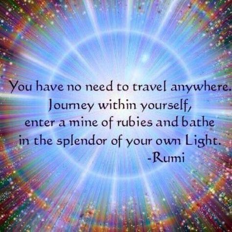 "Journey #within yourself & bathe in the splendor of your own #light""~#Rumi @DeepakChopra #CosmicConsciousness pic.twitter.com/GWSjrnU2TN"