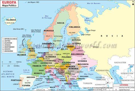 Mapa Polític D Europa.Mapa Politico De Europa En 2019 Mapa Politico De Europa