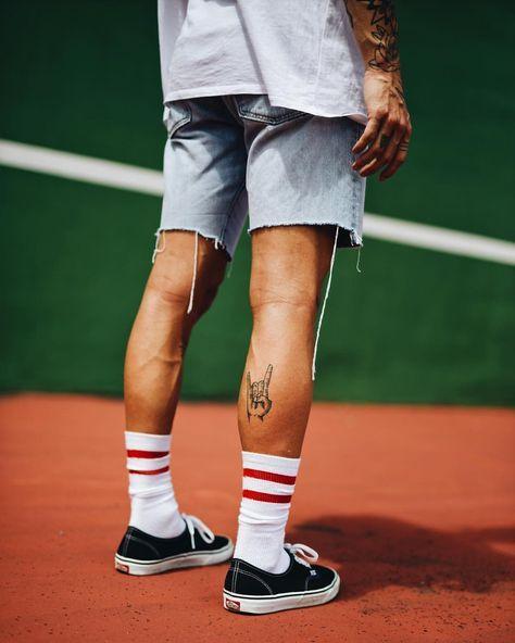 Make The Vans And Shorts Work Leg Tattoo Men Leg Tattoos