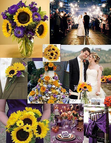 Sunflower Wedding Wedding Purple No Sunflowers Though I Like