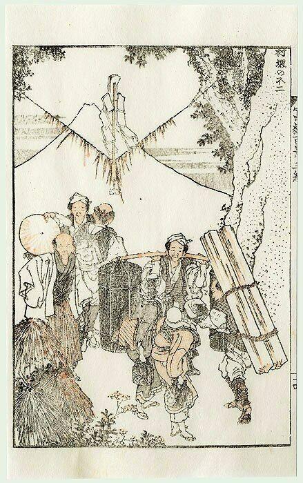 Japanischer Farbholzschnitt Original Hokusai 1760 1849