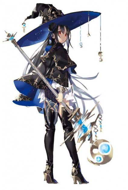 Best Hair Black Long Anime Art 23 Ideas Fantasy Character Design Anime Witch Concept Art Characters