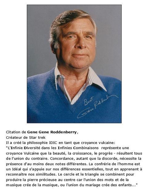 Citation Gene Roddenberry Createur De Star Trek Star Trek Trek