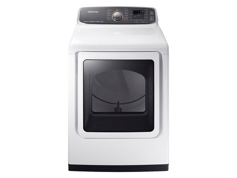 Samsung 7 4 Cu Ft 11 Cycle Electric Dryer With Steam White Front Zoom Electric Dryers Gas Dryer Samsung Dryer