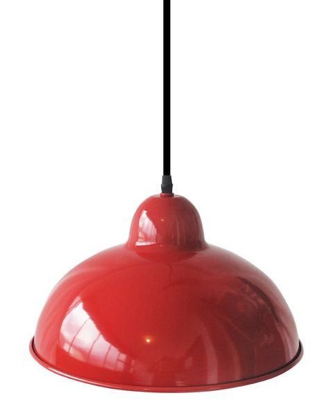 Industrial Cupola Pendant – Red Gloss