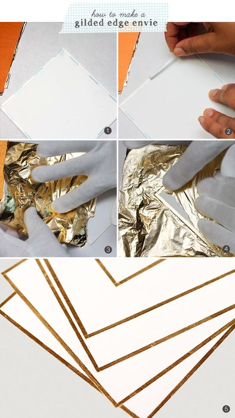 Gold Bow Stationery | Damask Love Blog - what a WONDERFUL way to use the new Xyron High Tack Adhesive Tape!