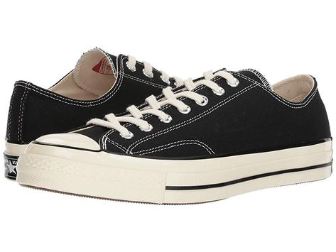 e909bbf16827 Converse Chuck Taylor(r) All Star(r)  70 Ox (Black Black Egret) Athletic  Shoes. This style runs a half size large. If you wear Men s or Women s size  9 ...