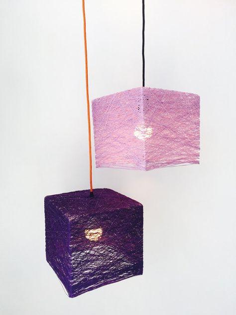 Cube - Square lamp - square pendant light - design lamp - modern light - modern pendant light