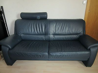 Sofagarnitur Echtleder Bordeauxfarben 3er 2er Sessel Modern Couch Couch Sofa