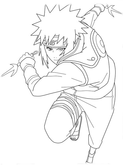 cartoon naruto coloring pages for kids  free coloring