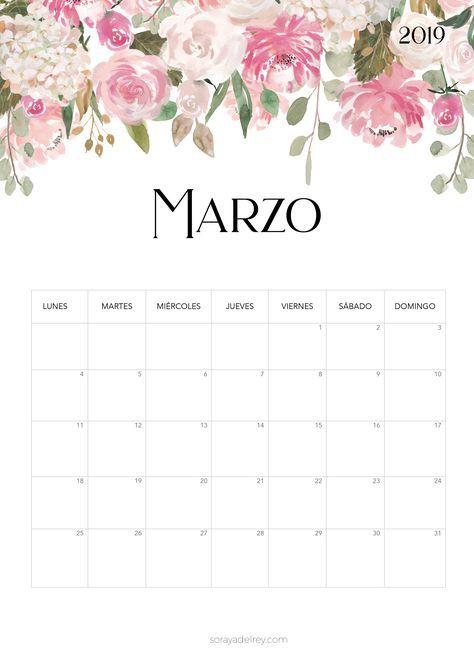Calendario Marzo 2020 Para Imprimir Pdf.Calendario Para Imprimir 2018 2019 Papeleria