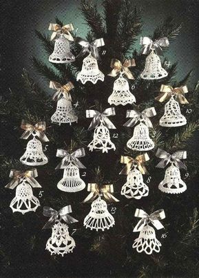 Crochet Pattern Christmas 2020 Vintage Crochet Pattern 16 Bells Ornaments Christmas Weddings