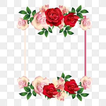 Square Frame Red And Pink Roses Free Vector Flower Watercolor Flowers Png And Vector With Transparent Background For Free Download En 2021 Flores Vectorizadas Ilustracion De Flor Flores Para Dibujar