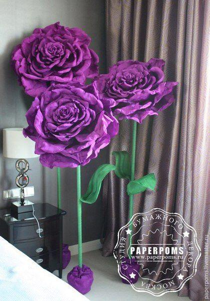 Мастер-класс гигантские цветы