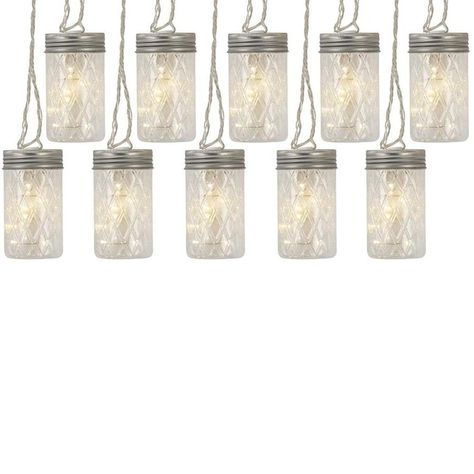 Add a touch of nostalgia to your deck or patio with this rustic jelly jar string light. These may be used indoor or outdoor, so they're ideal for any occasion.