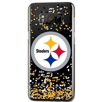 Pittsburgh Steelers iPhone Glitter Case with Confetti Design