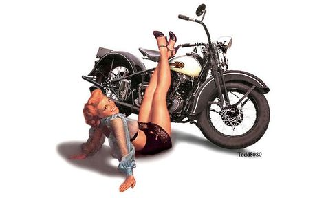 Motorcycle pin up girls image by Todd8080 on Photobucket