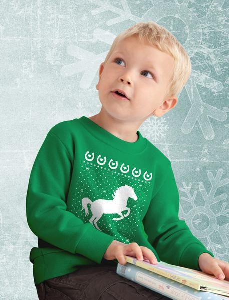 T-Rex Santa Ride Funny Ugly Christmas Sweater Toddler//Kids Long Sleeve T-Shirt