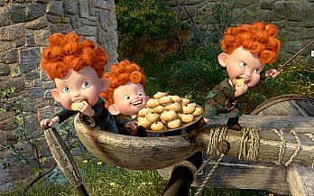 the little cakes from the movie Brave, will definately have to make these...english version all the end....gâteau rebelle de disney gateaux de merida (10)