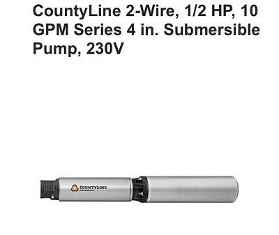 Ad Ebay Url Countyline 2 Wire 1 2 Hp 10 Gpm Series 4 In Submersible Pump 115v Submersible Well Pump Well Pump Deep Well Submersible Pump