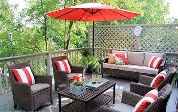 deck furniture layout patio furniture