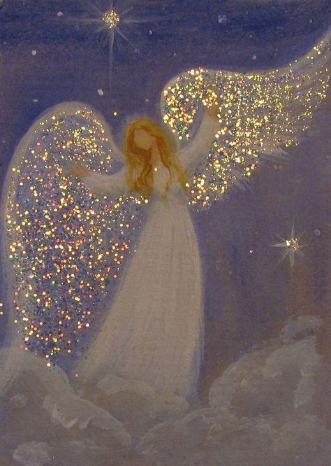 Intuitive angel painting by Breten Bryden Original Angel Painting www.BrydenArt.com Ebay shop: CapeCodArtist Etsy shop: BrydenArt #angels #acrylic painting #art #inspiration #BrydenArt