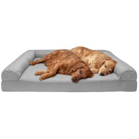 Furhaven Pet Dog Bed Orthopedic Quilted Sofa Style Couch Pet Bed For Dogs Cats Silver Gray Jumbo Plus Walmart Com Dog Pet Beds Dog Sofa Bed Foam Pet Bed