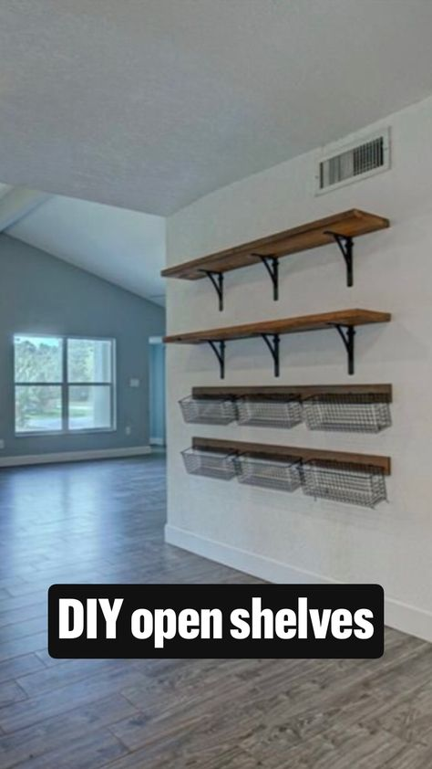 DIY open shelves