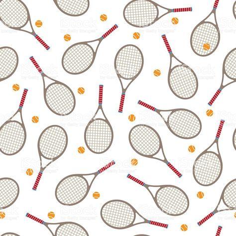 Tennis Racket Seamless Pattern White Tennis Wallpaper Tennis Racket Seamless Patterns