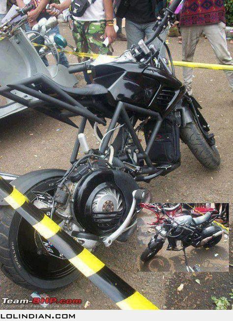 This Is A Modified Bajaj Chetak Unbelievable Bike Vehicles