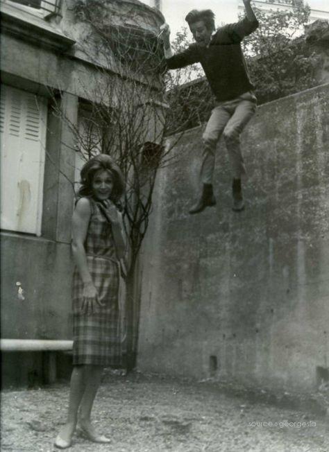 Dalida et Jean Sobieski  á Montmartre 1964