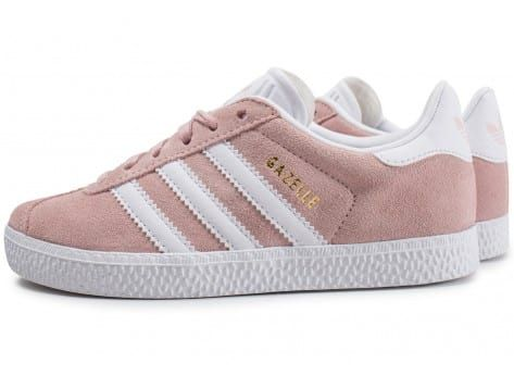 adidas Gazelle enfant rose pâle - Chaussures adidas - Chausport ...