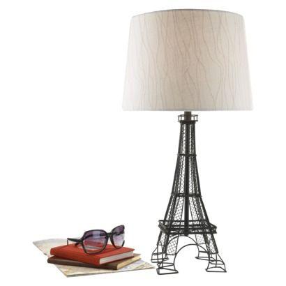 Threshold Lamp Base Iron Eiffel Tower Medium Includes Cfl Bulb Eiffel Tower Lamp Lamp Lamp Bases