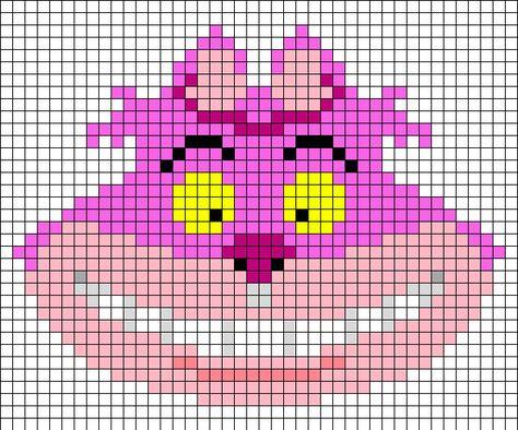 Disney Cheshire Cat Perler Pattern by GeekyAssassin31 on DeviantArt
