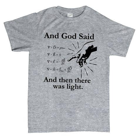 2f6860e78 Cheap Gildan camiseta para hombre dios dijo ecuaciones de maxwell y luego  estaba claro t camisa, Compro Calidad Camisetas directamente de los  surtidores de ...