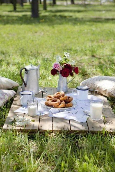 breakfast in the meadow
