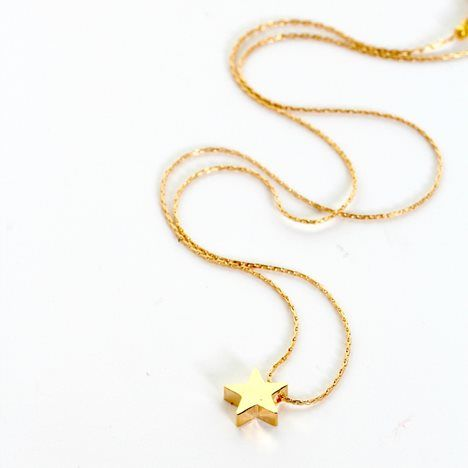 Little Gold Star Charm Necklace - 11 Main