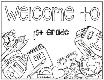 Welcome To 1st Grade Coloring Page 1st Grade Math Worksheets