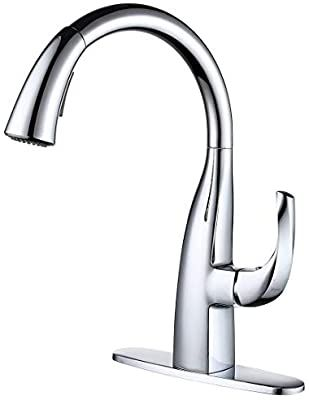 Wowow Kitchen Sink Faucet With Pull Down Sprayer Chrome Single Handle Commercial Modern Kitchen Fauce Modern Kitchen Faucet Kitchen Sink Faucets Kitchen Faucet