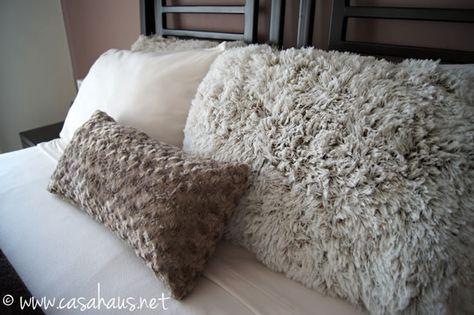 Texture in Cozy Winter bedroom