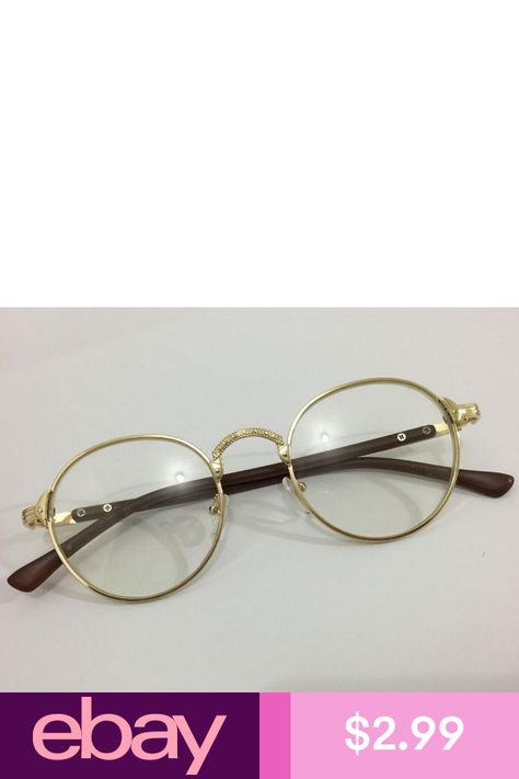 9cef369f90 Eyeglass Frames Health   Beauty. Eyeglass Frames Health   Beauty. Открыть.  Подробнее... Vintage Oval Gold Eyeglass Frame Man Women Plain Glass Clear  ...