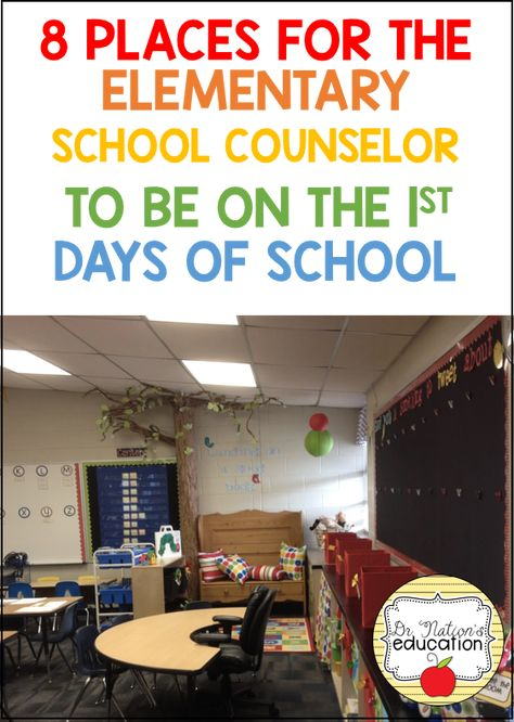 8 Places for the School Counselor to Be on the First Days of School