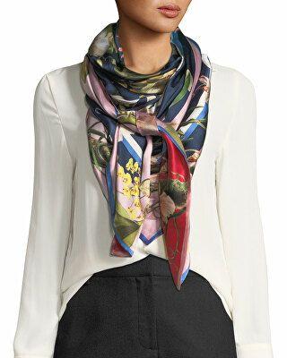 7794699f St. Piece Designer Imelda Double-Sided Silk Floral Scarf | Women ...