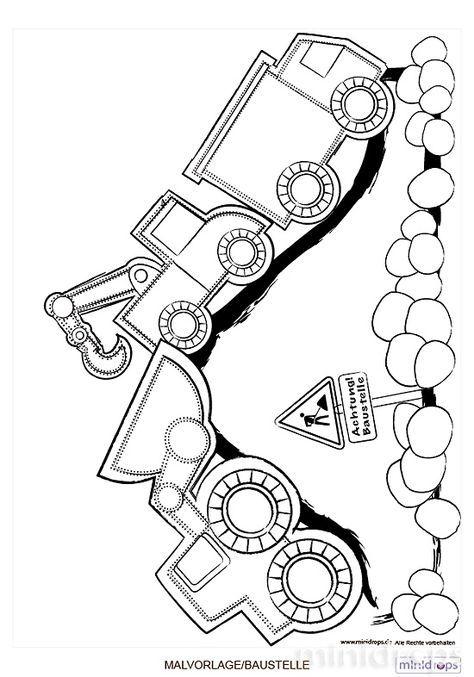 malvorlage baustelle für baumeister ausmalbild | kreslené